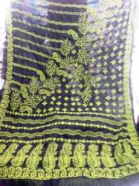 Georgette chicken work sarees
