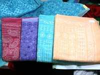 Cotton chiken work sarees