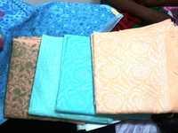 Cotton chiken work sarees