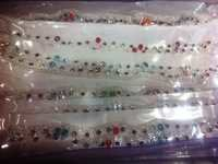 Imitation color Diamonds Anklet