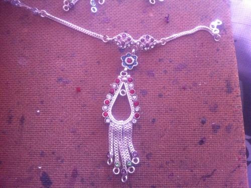 Silver Plated Kundan Payal