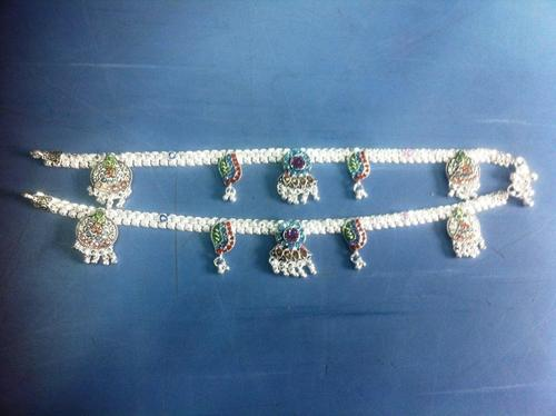 Artificial Silver cotted payal