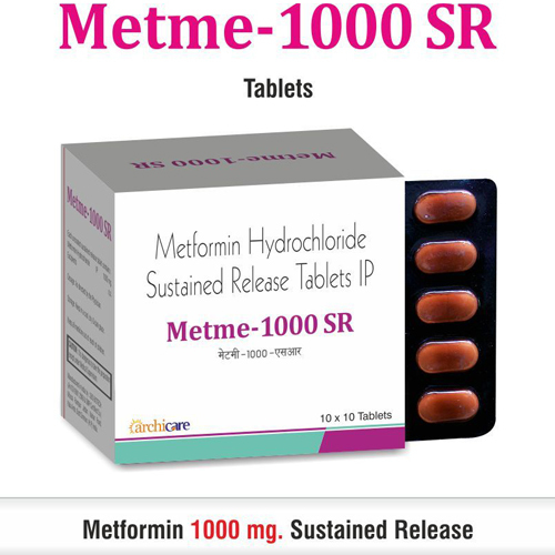 Metformin HCl 1000 mg. Sustained Release Tablets