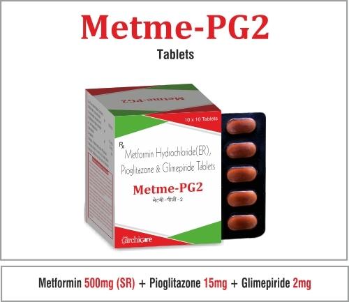Metformin(SR) 500mg, Pioglitazone 15mg, Glimepirid
