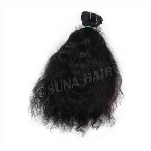 Stylish attractive good quality indian silky curly machine weft human hair