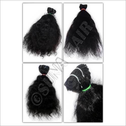 Natural quality weft silky curly peruvian virgin human hair extension