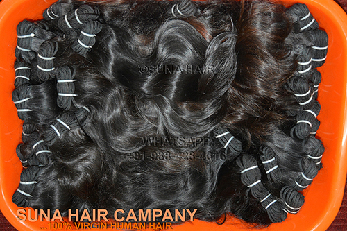 100% silky curly weft remy human hair extension