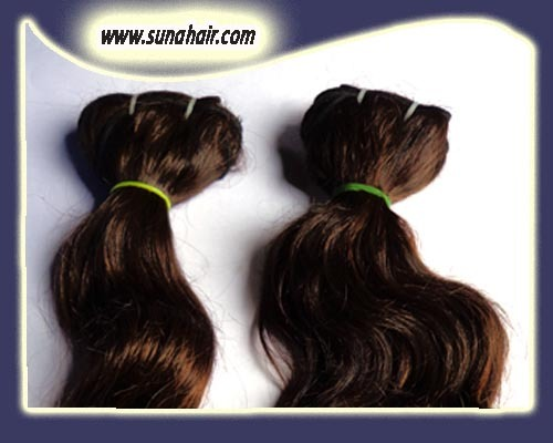 Top quality silky curly machine weft long size natural remy human hair