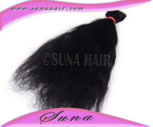 High Quality selling fashonbla human hair silky curly remy hair extension