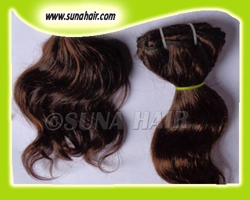 Curly High Quality Grade 5A indian remy weft human hair extension