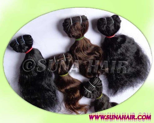 Pure virgin quality curly natural hair mangolian remy human hair extension