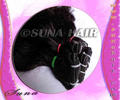 Virgin real natural indian weft remy silky curly human hair extension