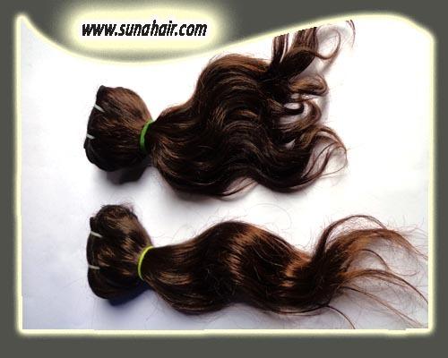 Grade 4A silky curly natural black color mangolian human hair