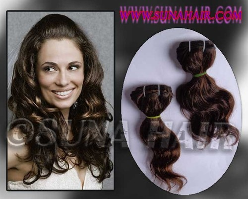 Weft silky curly good quality virgin mangolian human hair extension