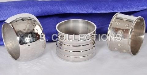 Round Hammered Silver Napkin Ring