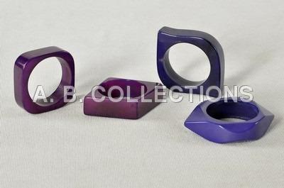 Diamond Cutting Resin Purple Napkin Ring