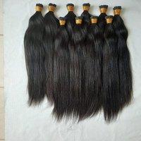 I Tip Hair Extensions Human Hair,black Straight Human Hair