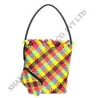 Leather Hand Woven Resort Bag