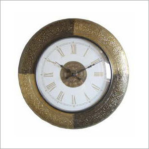 Ethnic Brass Fitted Wall Clocks