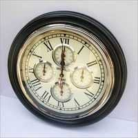 HOME INDOOR WALL CLOCK VINTAGE STYLE HANGING WOLD TIME  CLOCK