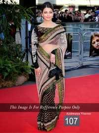 Bollywood Aishwarya Rai Valvet Saree
