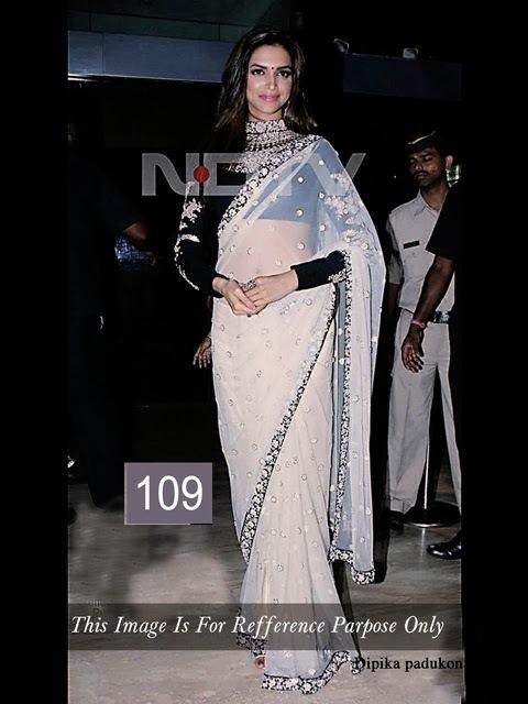 Bollywood Deepika Padukone Net Saree