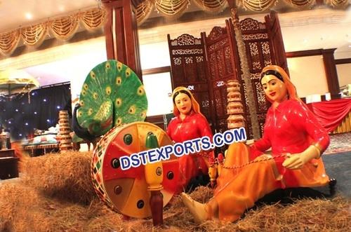 Punjabi Village Theme Wedding Statue