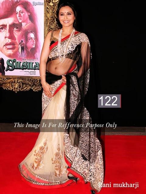 Bollywood Rani Mukherjee Abstract Sarees