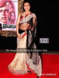 Bollywood Rani Mukherjee Abstract Sarees