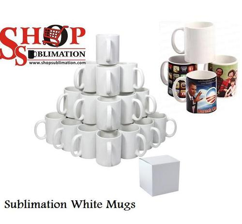 Sublimation White Mugs
