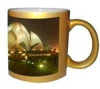 Sublimation metalic Golden Mug