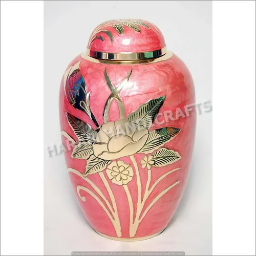 Pink Flower Design Urns