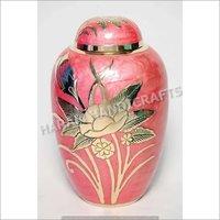 Pink Flower Design Urns