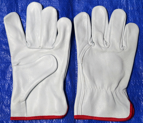 Cow Grain Leather Driving Gloves