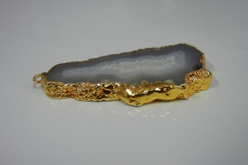 Sterling Silver Agate Geode Pendant
