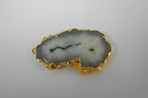 Gold Plated Geode Pendant