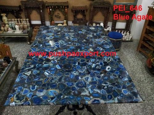 Blue Agate Stone Slabs