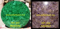Malachite and Amethyst Stone Slabs