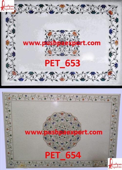White Marble Floral Inlay Pichkari