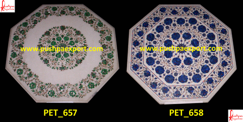 White Marble Pichkari Table Top