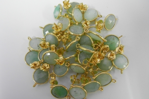 Chrysoprase Gemstone Connectors