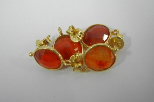 Carnelian Gemstone Earring Connector