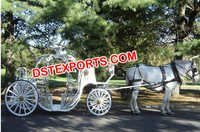 New Cinderella Wedding Horse Carriage