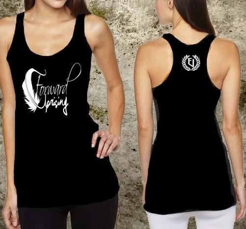 Ladies Printed Gym Singlet