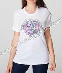 Ladies Printed White T shirt