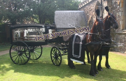 BLACK ENGLISH FUNEREL HORSE CARRIER