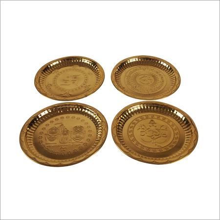 Brass Decorative Puja Plates