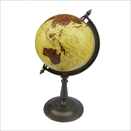 VINTAGE ART DECOR GEOGRAPHICAL WORLD GLOBE DESKTOP WITH STAND