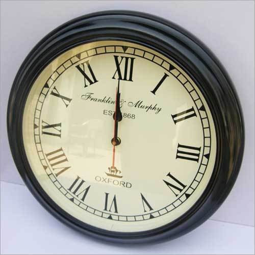 ROUND HANGING WALL CLOCK ANTIQUE STYLE WOODEN PATTERN