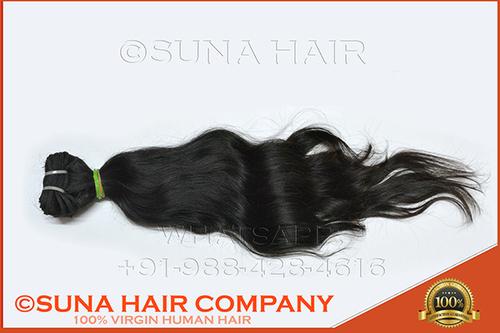 natural wavy machine weft unprocessed human hair